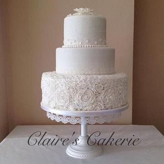 'Ruffles and Lace' Wedding Cake