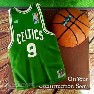 Sean - Boston Celtics Confirmation Cake - Cake by Niamh Geraghty, Perfectionist Confectionist