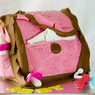 Diaper bag cake - Cake by Vanessa
