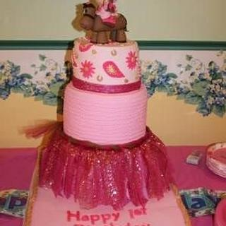 1st birthday cake to match little girls dress
