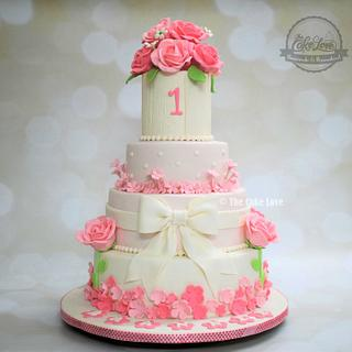 Floral birthday cake - Cake by The Cake Love by Hiral Desai