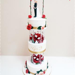 Wedding cake : Lovebirds ❤