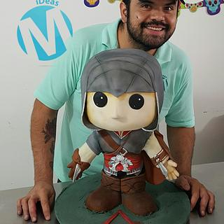 Assassins creed funko pop cake
