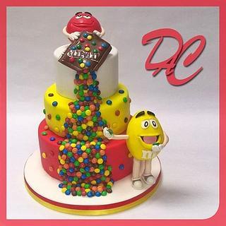 M&M's birthday cake - Cake by Alessandra