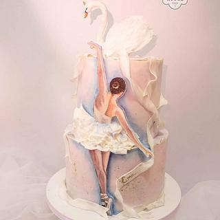 Hand painted ballerina cake <3