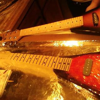 actual size 3/4 Flying V guitar - Cake by Erika Lynn Cain