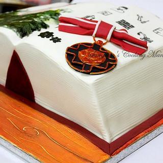 Engineering Book cake