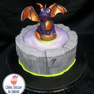 Spyro Skylander Portal Inspired Cake