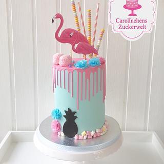 🌸 Flamingo - Dripcake 🌸 - Cake by Carolinchens Zuckerwelt