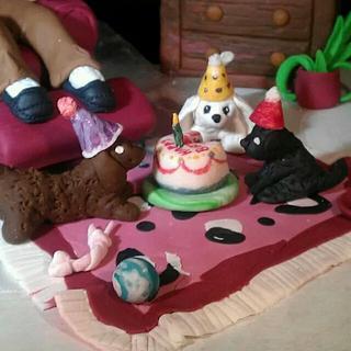 birthday dogs - Cake by Robin Meyers