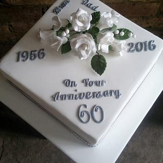 Diamond Anniversary Cake - Cake by Helen Campbell