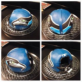 Seahawks football cake And helmet