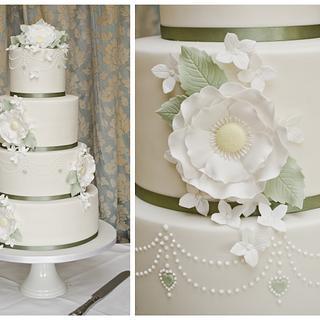 Yorkshire Roses wedding cake - Cake by Joanna Rose