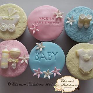 Baby Shower Cupcakes - Cake by Charmed Bakehouse