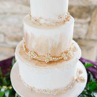 Cake jewels Wedding Cake  - Cake by Sharon, Sadie May Cakes