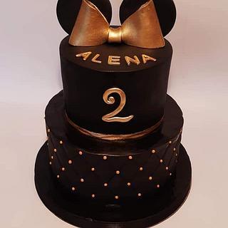 Black golden cake