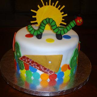 Ava's Hungry Caterpillar cake