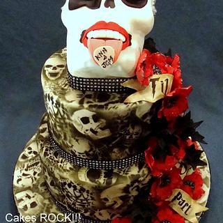Starchild Rock 'n' Roll Wedding Cake - Cake by Cakes ROCK!!!