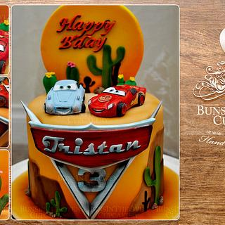 Tristan's Cars Cake