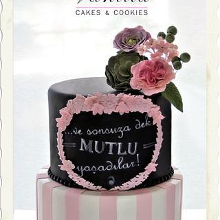 Chalkboard Engagement Cake