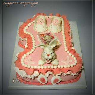 "Cake ""Edinichka with Bunny"""