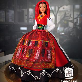 A Vianesa - Portuguese folk dancer doll cake