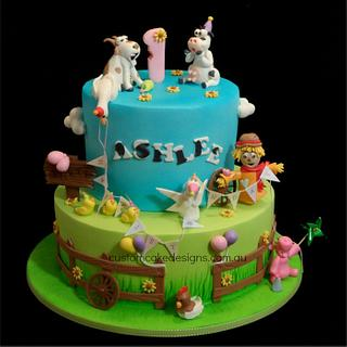 Party Farm Animals Cake