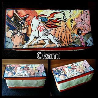Hand painted Okami cake