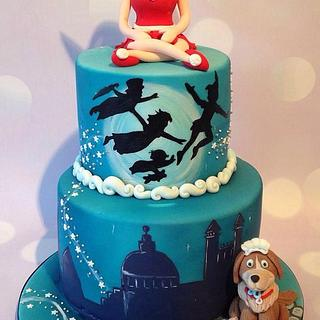 Peter Pan Christmas cake