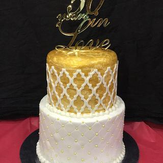 50th Anniversary Cake - Cake by Saniya Khan Sarguru