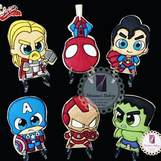 Superhero's cookies!!!