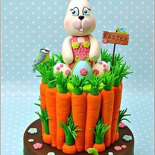 Easter Bunny and Carrots Cake