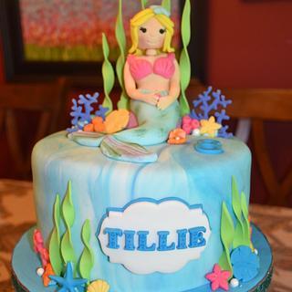 Mermaid Cake for Tillie's 8th Birthday!