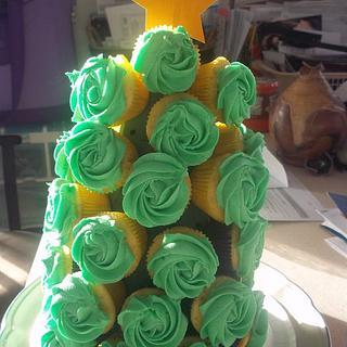Christmas Tree Cupcake Boquete