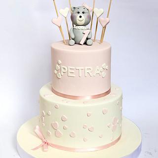 Girly Teddy Bear birthday cake
