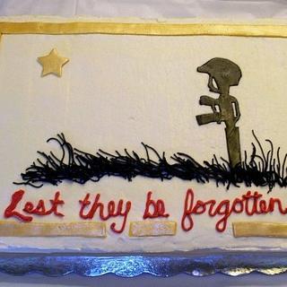 Fallen Soldier - Cake by Terri Coleman