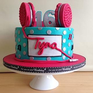 Headphone Birthday Cake