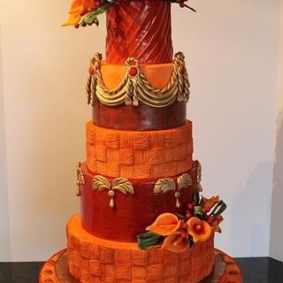 Calla Wedding Cake