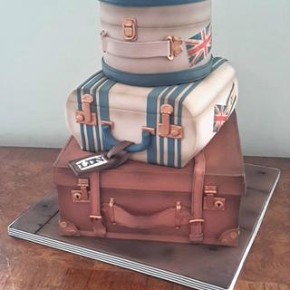 Vintage Travel - Cake by WickyWooWoo Cakes