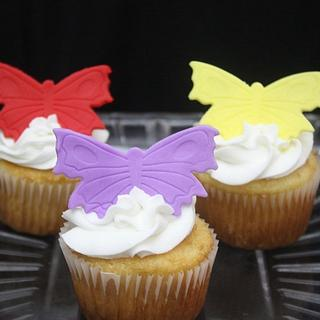 Butterfly cupakes