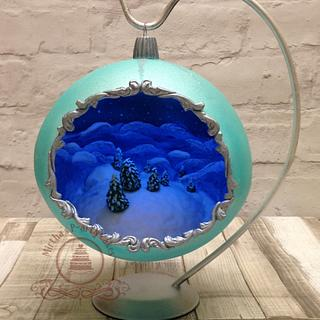 3D Christmas Bauble  - Cake by Mirtha's P-arty Cakes