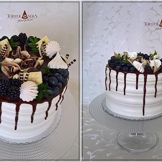 Drip cake for man