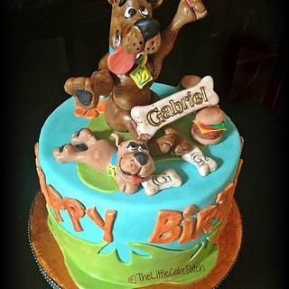 Scooby Doo & Scrappy - Cake by Joanne Wieneke