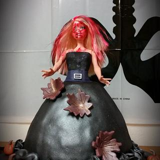 halloween doll cake