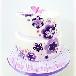 Baptism in violet...♡