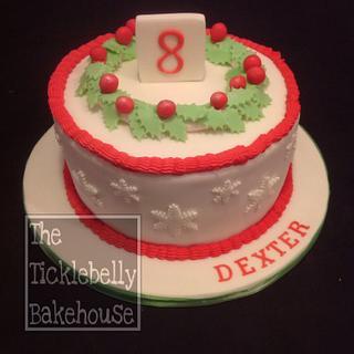 Christmas Eve birthday cake