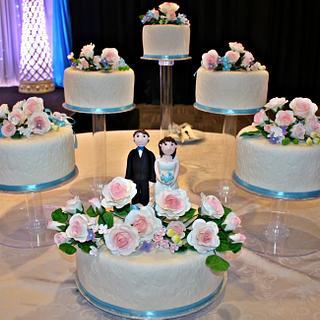 Wedding cakes - cascading style