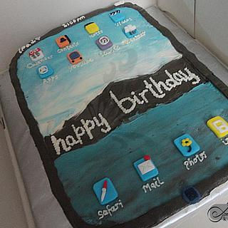 Buttercream iPad Cake