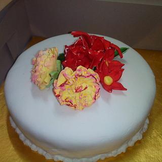 My first fondant cake