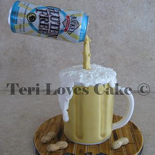Pouring Beer Cake